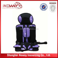 unique polyester and sponge material baby car seat with cheap price