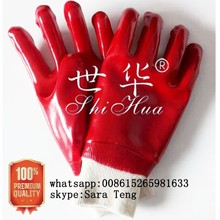 100% cotton inerlock lined oil and chemical resistant PVC Glove