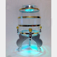 8L big size plastic cold tabletop beer tower with LED light