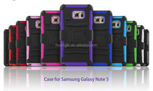 Hot selling 3 in 1 case shockproof case for samsung note 5 easy install