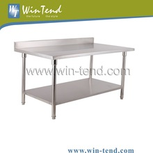 Different Size As Your Required High Quality Sand Polishing Stainless Steel Kitchen Worktable With Under Shelf
