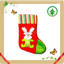 Popular felt christmas stocking with cute reindeer decoration