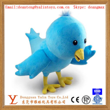 High quality super soft toys plush blue bird