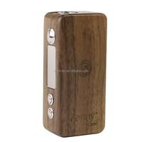 Black walnut mod Penny Style Wood 35W Variable Wattage/Voltage VW/VV Box Mod penny mod