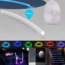 super brightness 3mm side glow optical fibre optic fiber for lighting decoration