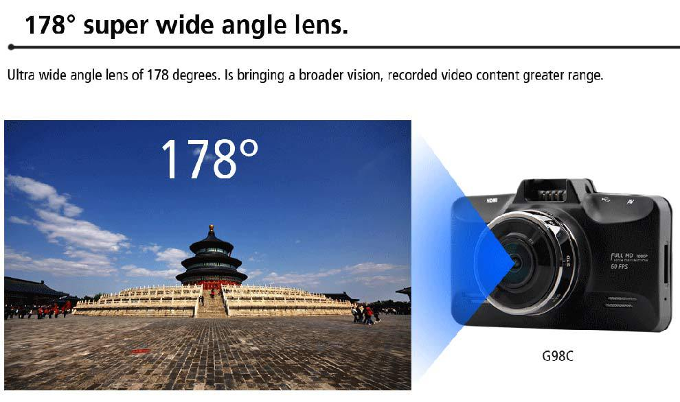 Super HD 1296 P H.264 GPS logger voiture caméra Ambarella A7LA70 Dashcam