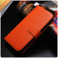 Hot sale cow flip wallet leather case for iphone 5 with card holder and stand