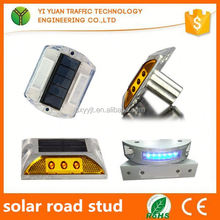 IP68 high flashing reflective solar intelligent solar road stud manually install paint colors