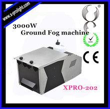 DMX 3000W Professional Lighting Ground/Low Dry Ice Fog Machine