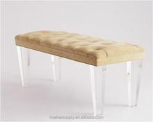 acrylic long chair acrylic sofa with cushion