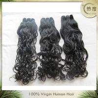 18'' Natural wave natural color Brazilian virgin remy hair brazilian natural wave