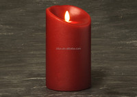 Dancing flame with Flickering Battery Operated Timer LED candle wax led pillar candles