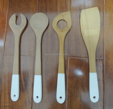 100% Original Ecology,rubber wood kitchen utensils with paint handle