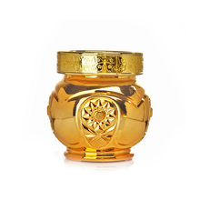 golden decorative glass bottles candy jars for indonesia new year