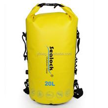 Yellow Outdoor backpack bag waterproof 20 liter