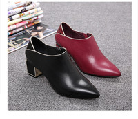 Women brand factory genuine leather wholesale flat nice apperance low heel dress shoes