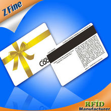 gift card/plastic card/mifare card with magnetic stripe