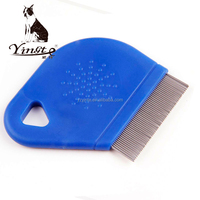 pet grooming products lice flea comb with handle