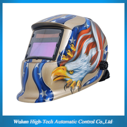CE ANSI Large View ARC TIG MIG DIN9-13 Electronic Auto Darkening Welding Mask/Welding Helmet Eagle