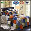 Modern Colorful block print dubai cotton patchwork bed sheet set/sets design for sale