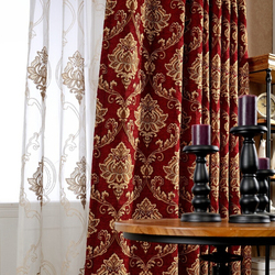 High-grade chenille jacquard curtain finished curtain