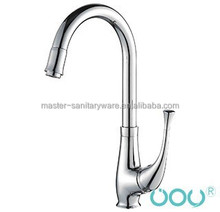 brass kitchen faucet-1