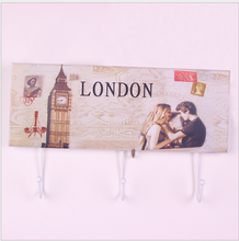 Creative Simple Clothes Hanger Wooden Wall Hook