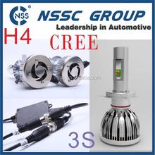 Factory Direct Wholesale 3S LED Car Lamp H4 Hi Low Beam 38W 4500LM LED Headlight