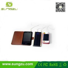 High battery solar dual usb charger compatible for iPhone 4,5, Samsung S3, S4, Note 2, Note 3, Nexus 4
