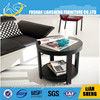 Small size round side brochure table and magazine table