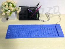 Waterproof foldable silicon keyboard, custom silicon keyboard, silicon keyboard