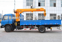 Dongfeng 4x2 Truck With Crane 5 tons truck crane