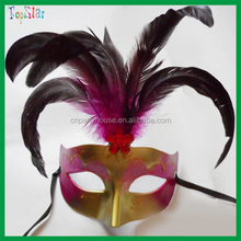 Vivid Custom Popular Party Mask Various Color Peacock Feather Party Mask For Halloween