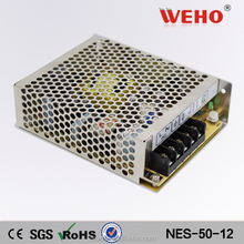 Metal case led ac power 12v ac to dc 50w power supply