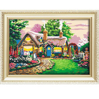 Dream cartoon castle 2015 handmade natural scenery oil painting on canvas