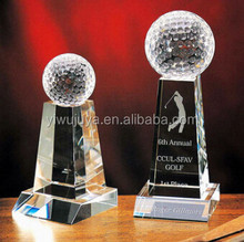 newest design crystal golf ball trophy & award for decoration