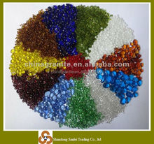 colorful glass bead for garden decoration