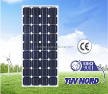 3.2mm Thick Low Iron Temperature Glass, Monocrystalline 80W Lower Price Solar Panel