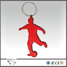 Wholesale new unique sports series stainless steel colorful plated key chain pendant