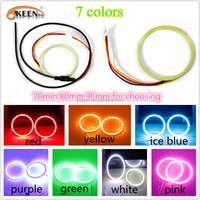 Hot Sale Angle Eyes Ring Light Led Car Driving Lights 70mm/80mm/90mm with 7 Colors