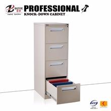 Space saving furniture beige KD metal chrome filing cabinet