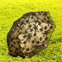 solar power umbrella light tropical print fabric