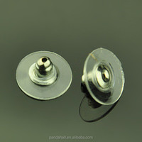 Platinum Tone Earnuts Stud Earring Backs Clutches with Comfort Disc