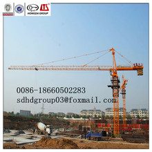 Best sale ISO9001/BV/CE approv. Hongda construction tower crane QTZ80A(6010) 8T building crane for sale