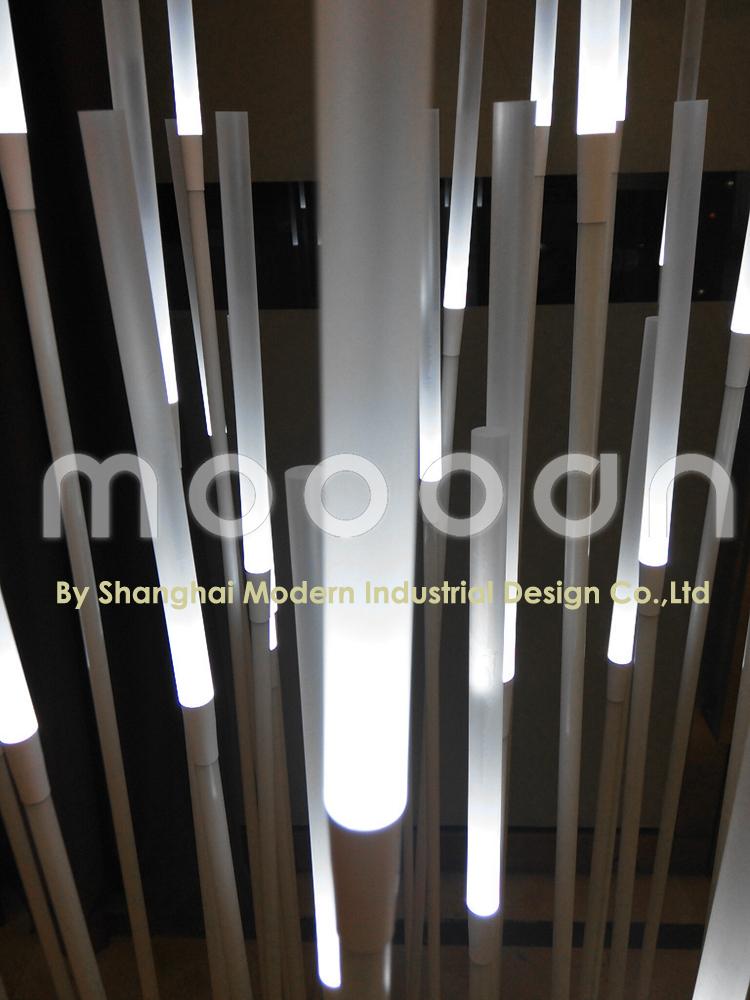 Moderne Fancy Wasserdicht Weiß Kohlefaser Schilf 1wx35 Led Röhre Boden  Dekoratives Licht Für Schlafzimmer Oder Gartenanlage