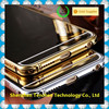 aluminum Bumper Case For iPhone6, For iPhone 6 Mirror Back Cover Hybrid Case gold plated