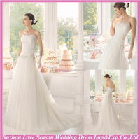 WD9102 famous shipping by express wedding dress 2015 a line