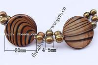 Shell Flat Round Bracelet With Jute