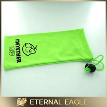 2014 fashion logo custom microfiber sunglasses pouch/waterproof mobile phone pouch/cell phone case for iphone pouch shell