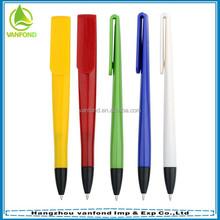 Plastic customized advertising flat bookmark pen